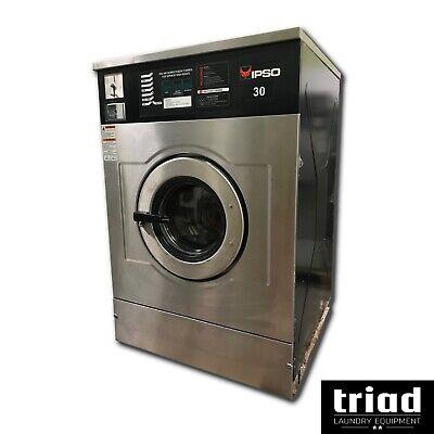 09 Ipso 30lb Coin Op Commercial Washer 1ph Unimac Dexter Speed Queen Laundromat
