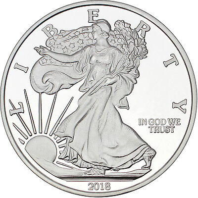 SPECIAL PRICE!! Silvertowne 2018 Silver American Eagle 5oz .999 Silver Medallion