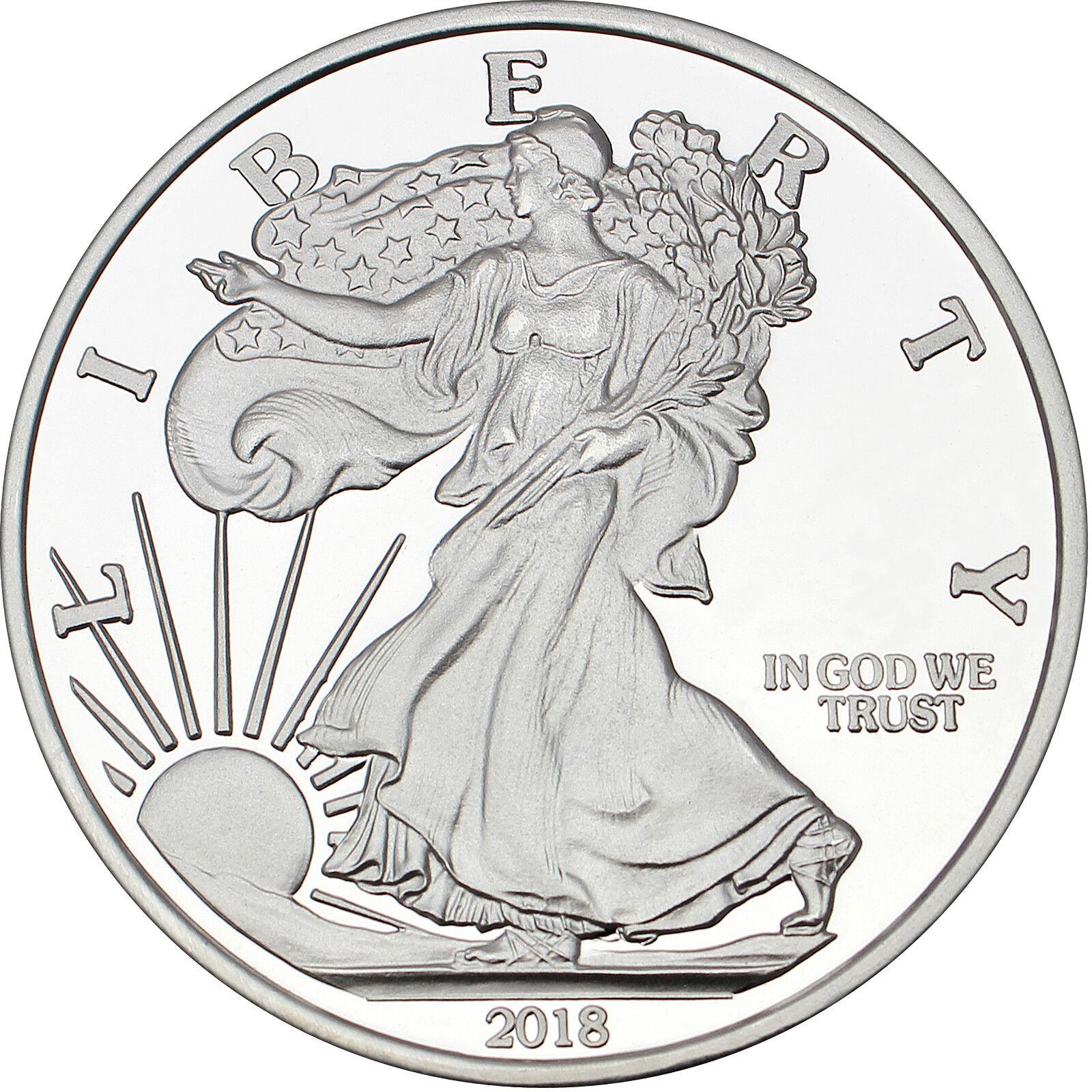 Silvertowne 2018 Silver American Eagle 5oz .999 Silver Medallion