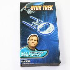STAR TREK ENTERPRISE NCC-1701 HEAVY METAL WHITE BOTTLE OPENER W// BOX SEALED NEW