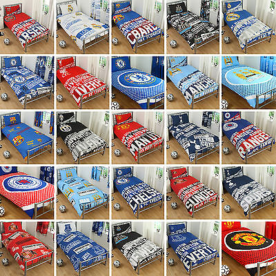 Official FC Football Club Boys Reversible Duvet Quilt Cover Bedding Set