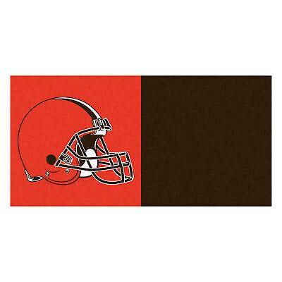 Fanmats 8555 NFL - Cleveland Browns Team Carpet Tiles 18