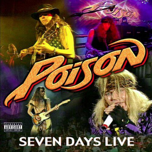 POISON Seven Days Live BANNER HUGE 4X4 Ft Fabric Poster Tapestry Flag album art