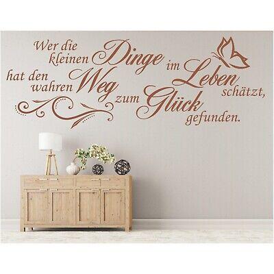 Spruch  WANDTATTOO Dinge im Leben Weg Glück Wandsticker Wandaufkleber Sticker 0
