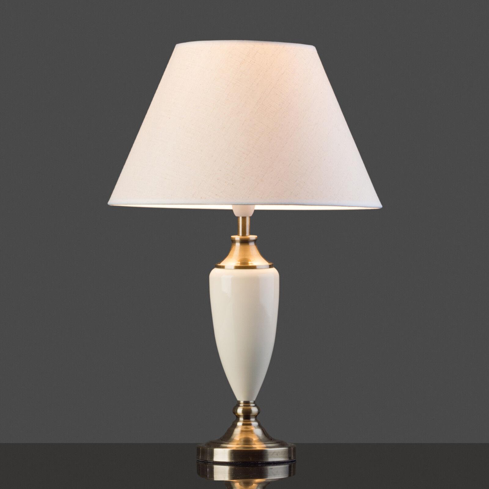 Large Malham Cream Ceramic And Antique Brass Traditional Table Lamp Shade 5060377981598 Ebay