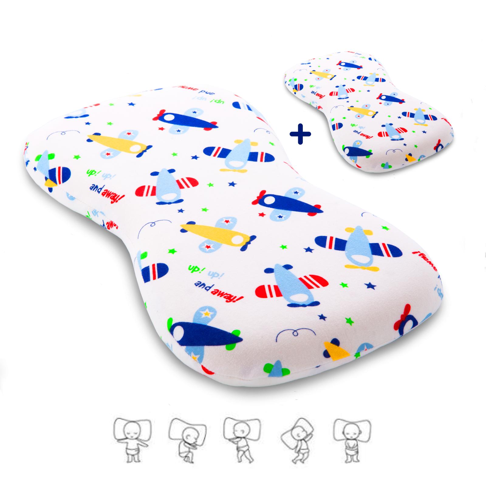 Cuscino Neonato Antisoffoco In Memory Foam Extra-Soft Per Prevenzione Plagiocefa