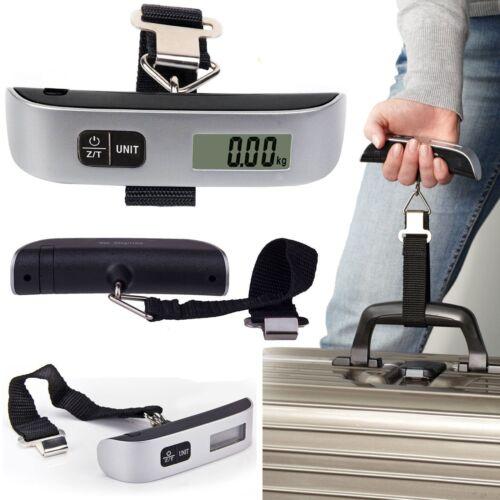 50kg/10g Digital Kofferwaage Hängewaage Gepäckwaage Reise Waage Thermometer