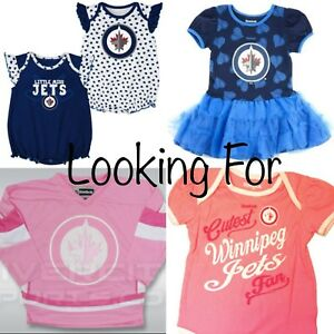 Wanted: Winnipeg Jets Toddler Girl Clothing (Size 18M to 4T)