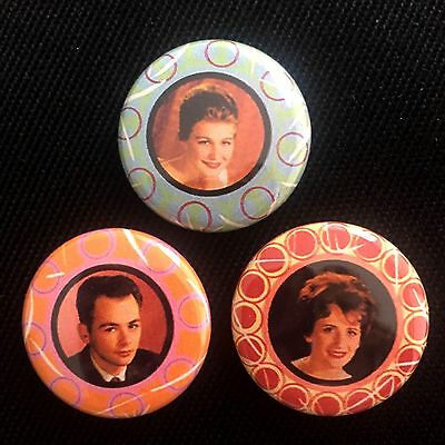 THE FLEETWOODS Goodies Of The Oldies PINBACK BUTTON SET