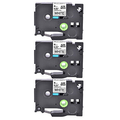 3pk Fits Brother P-touch Tz-211 Tze-211 Black On White Label Tape Pt-e500 14in