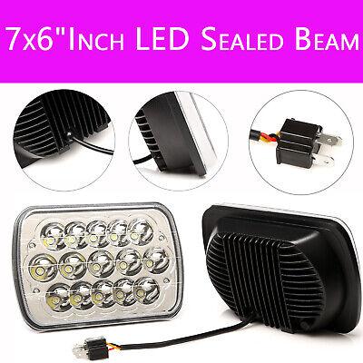Auto Parts LED Light Bulbs Crystal Clear Sealed Beam Headlight Headlamp 7X6 - Nissan Stanza Auto Parts