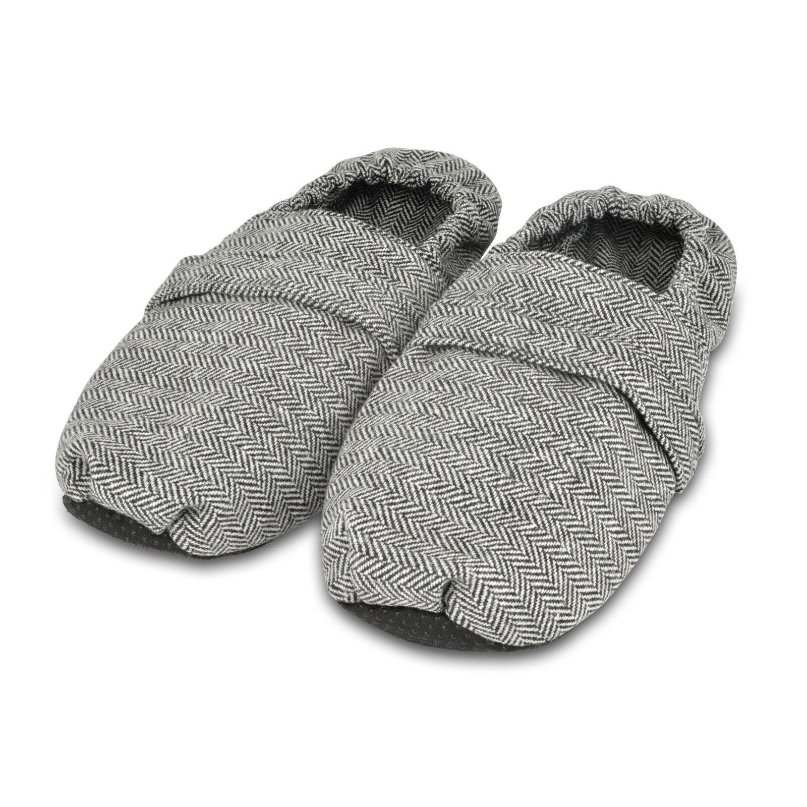 Zhu-Zhu Herringbone Microwavable Slippers - Herringbone Zhu-Zhu - Unscented Microwave Feet Warmers a09b66