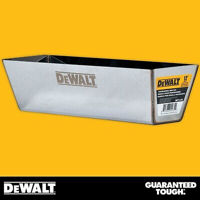 Dewalt Drywall Mud Pan 12 Mixing Compound Paint Heli-arc Weld Contoured Bottom
