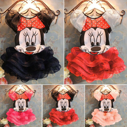 Kinder Baby Mädchen Party Outfit Kleidung Minnie Mouse T-Shirt + Tutu Rock Kleid