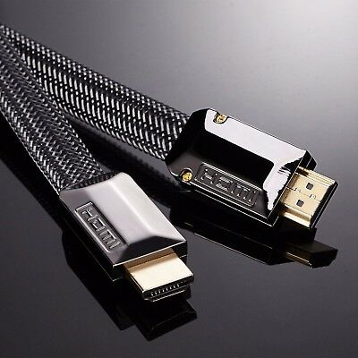 0.5M-15M FLAT HDMI CABLE FULL HD 4K 3D v2.0 FOR LCD LED OLED APPLE TV SKY PC ()