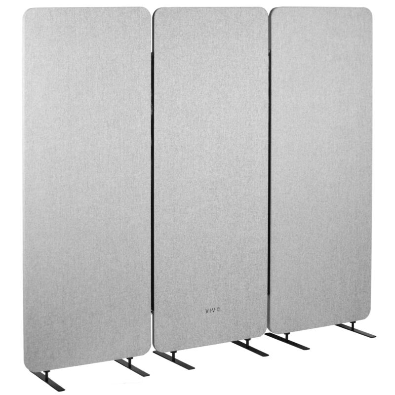 VIVO Gray 72 x 66 inch Privacy Panel Office Partition | Cubicle Room Divider