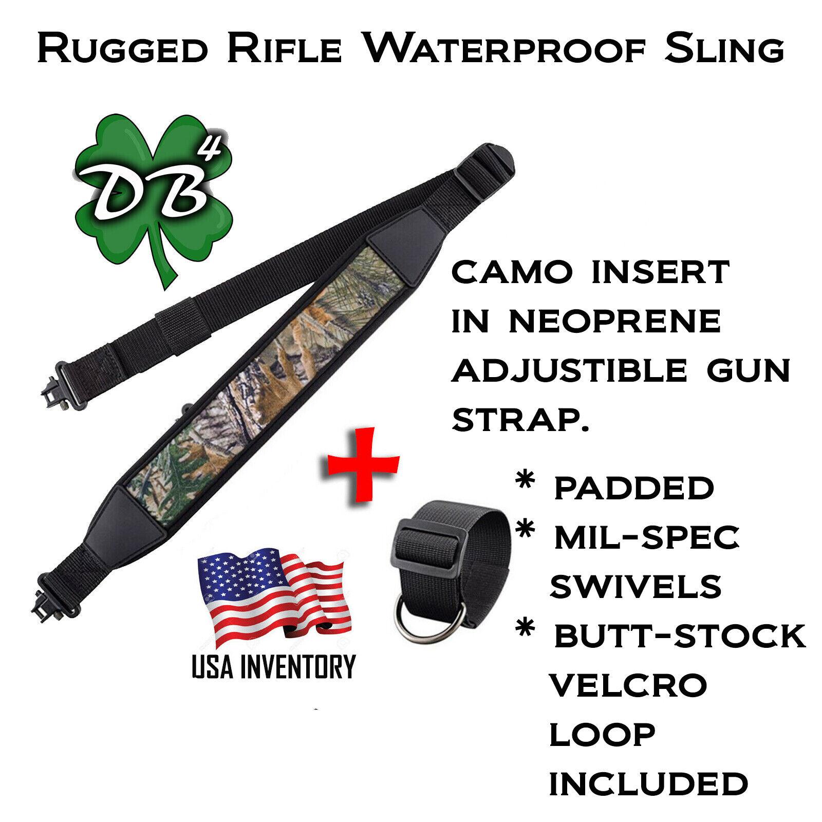 Camo Black Rifle Gun Sling Adjustable Shoulder Strap with Sw