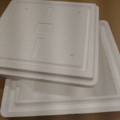 Cube Thick Walled Styrofoam Insulated Shipping Cooler Container 14lx14wx10h