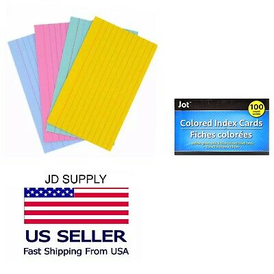 Index Cards Ruled 3 X 5 100 Cards Ideal For Presentations Colored .
