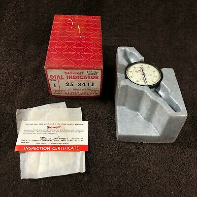 Starrett Dial Indicator 25-341j Great Condition Edp No. 53287