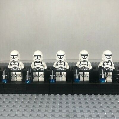 Lego Star Wars Compatible 5 Clone Trooper Minifigure Lot with Blasters Set , USA