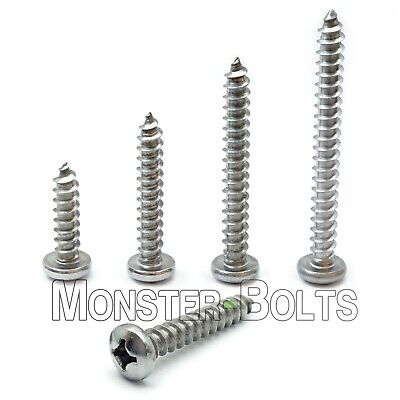 14 Stainless Steel Phillips Pan Head Self-tapping Type A Sheet Metal Screws A2