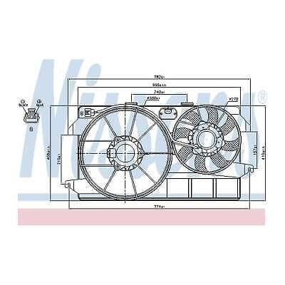 Fits Ford Tourneo Connect 1.8 TDCi/TDDi/Di Nissens Engine Cooling Radiator Fan