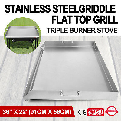 36x22 Stainless Steel Portable Add On Flat Top Griddle Outdoor Stove