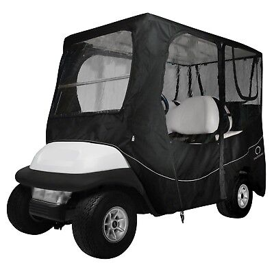 "Classic Accessories Black 4 Passenger Enclosure For 80"" Golf Cart Top Universal"