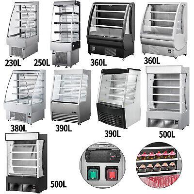 Open Refrigerator Display Cooler Case 390250230380360500l With Led Lights