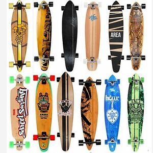 longboard skateboard my area streetsurfing cruiser downhill bamboo surfer neu ebay. Black Bedroom Furniture Sets. Home Design Ideas