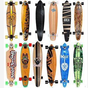 longboard skateboard my area streetsurfing cruiser downhill bamboo surfer neu ebay. Black Bedroom Furniture Sets. Home Design Ideas