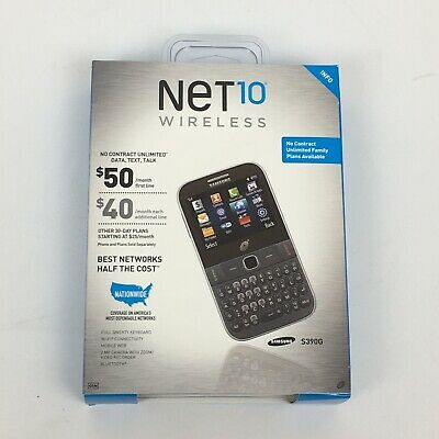 SEALED New Net10 Wireless Samsung S390G Cell Phone Black Tracfone NO CONTRACT!