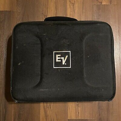 EV Padded Microphone Case Bag— Drum Mics—zipper Both Sides-Extra Storage