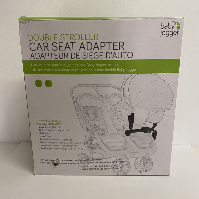 Baby Jogger Double Stroller Car Seat Adapter | BJ90223 | OPEN BOX