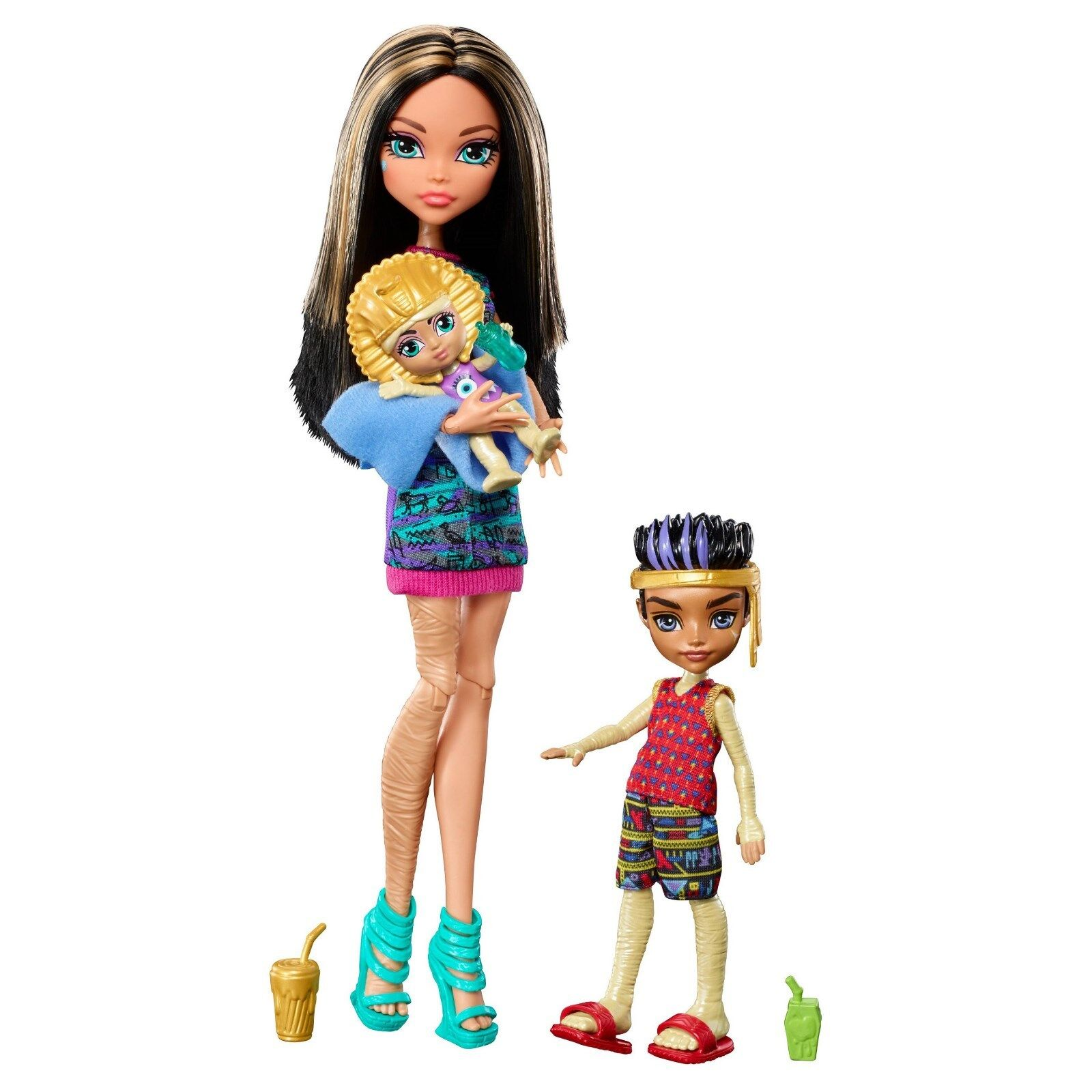 Monster High - Monster High Monster Family CLEO DE NILE & LUX and SANDY DE NILE Doll Set - NEW
