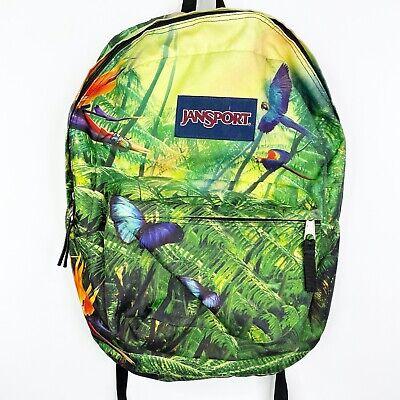 Jansport Tropical Paradise Bird Backpack Bookbag Handbag Tote -