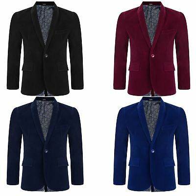 Boy Velvet Lining Suit Blazer Kid Paisley Jacket Smart Casual Formal Coat - Boys Velvet Suit