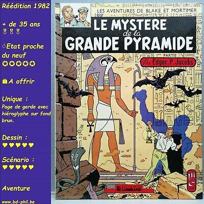 Blake et Mortimer, 4, Mystère de la grande pyramyde 1 Jacobs Lombard R 1982 TBE