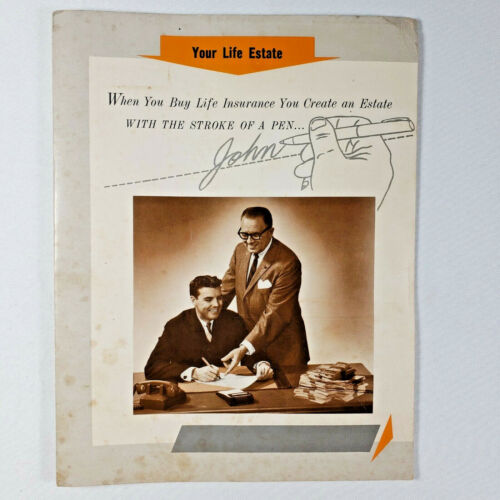 Vintage Ad - Your Life Estate -by The Insurance Salesman-1968 - Good Condition