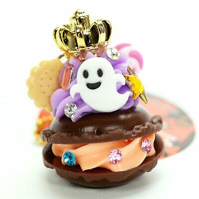 Kawaii Halloween Ghost (Halloween Macaroon Keychain Ghost Skull Cake Dessert Kawaii Japanese Food)