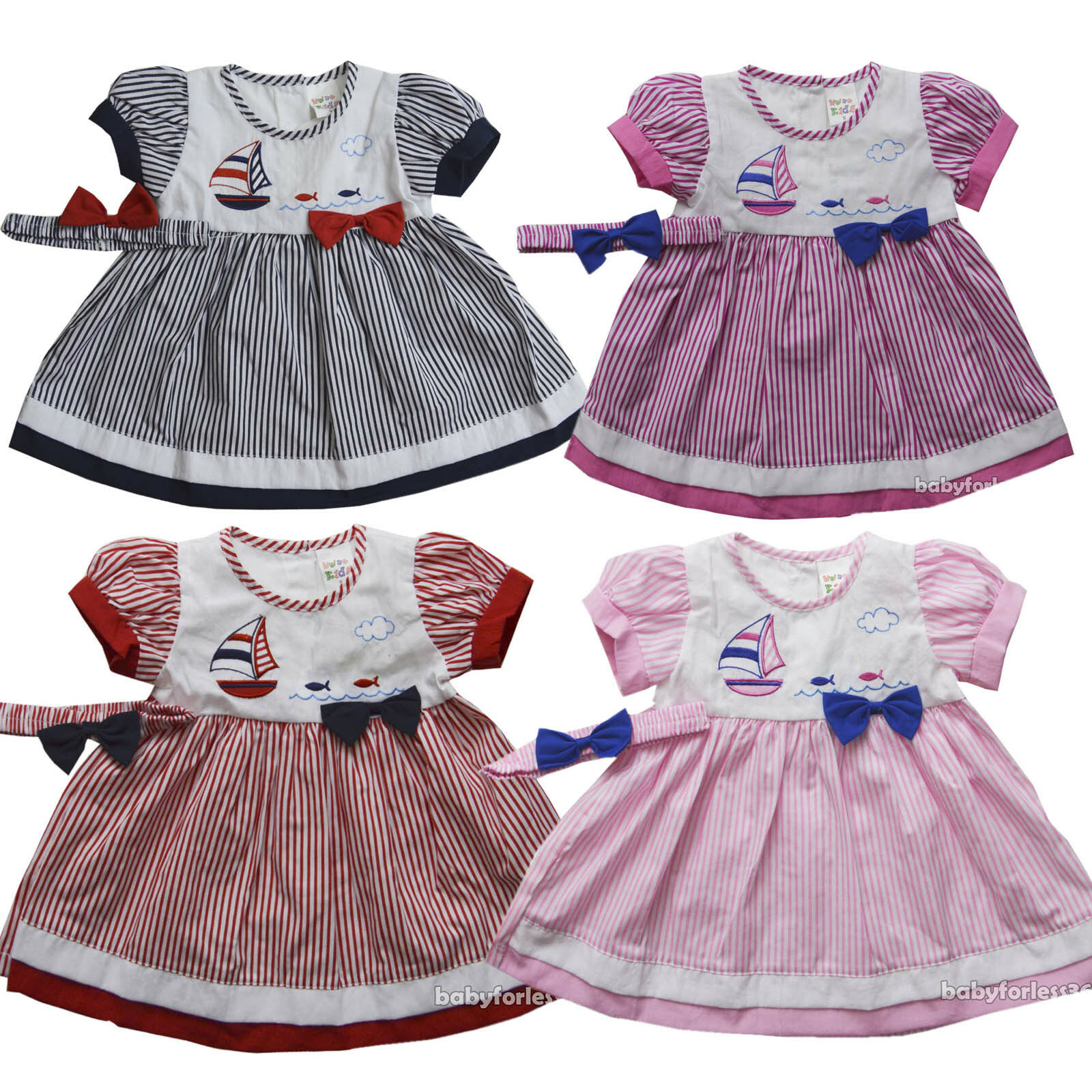 ecaf8bf5dc72 NWT Baby Girls Dress w Diaperwear Headband Clothes Outfit size 0 3 6 ...