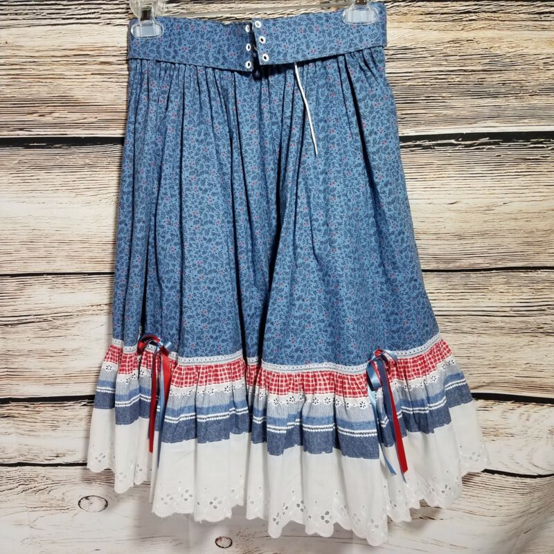 Fun And Fancy Originals Womens Medium Square Dance Fashions Dress Vintage Blue