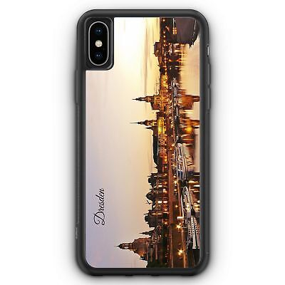 PANORAMA DRESDEN IPHONE XS MAX SILIKON H LLE COVER SKYLINE SILHOUETTE SCH N H