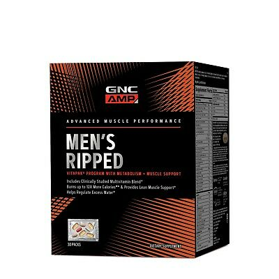GNC Pro Performance Amp Men's Ripped vitapak program 30 paks - exp 01/2020