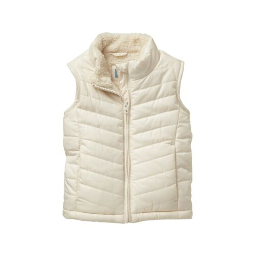 Baby Gap Toddler Girls Ivory Sherpa Lined Puffer Vest Jacket NWT