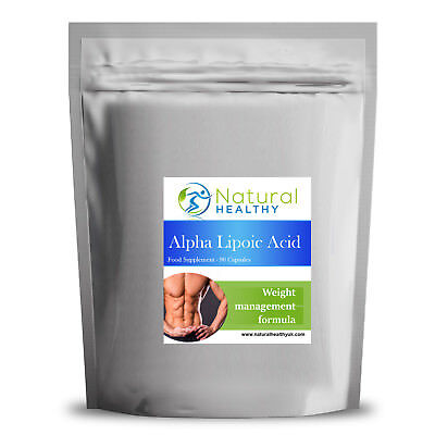 30 ALA - Alpha Lipoic Acid 300mg - UK Manufactured High Quality...