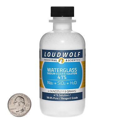 Sodium Silicate 4 Ounce Bottle 99.9 Pure Reagent Grade 41 Solution Usa