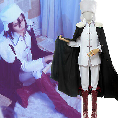 Bungo Stray Dogs Fyodor Dostoyevsky Cosplay Costume Hat Boots Cloak Suit Full