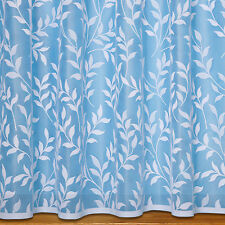 Lisa Leaf Net Curtain ~ Sold By The Metre ~ Lace Voile